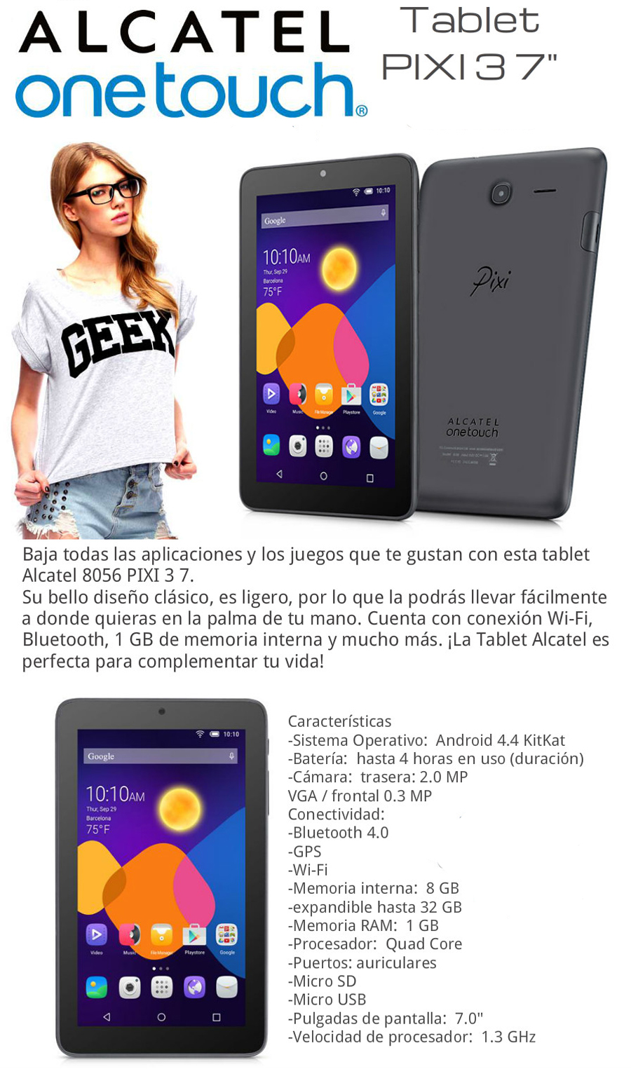 Tablet Alcatel