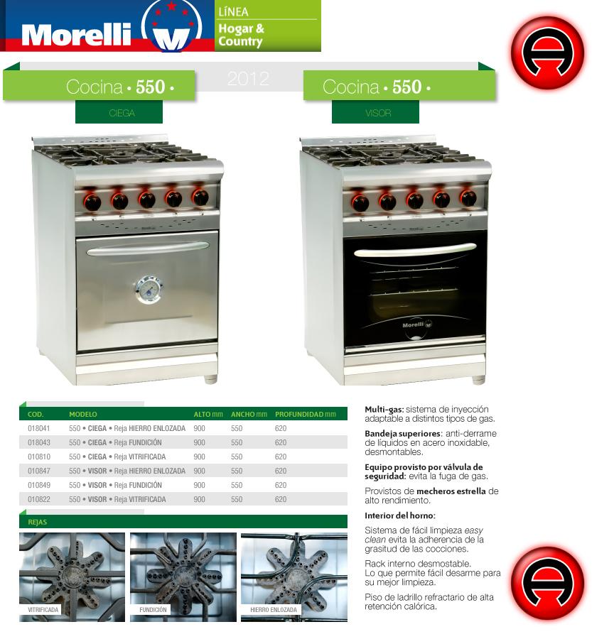 Cocina industrial morelli 55 cm inoxidable ciega oferton - Cocinas murelli ...