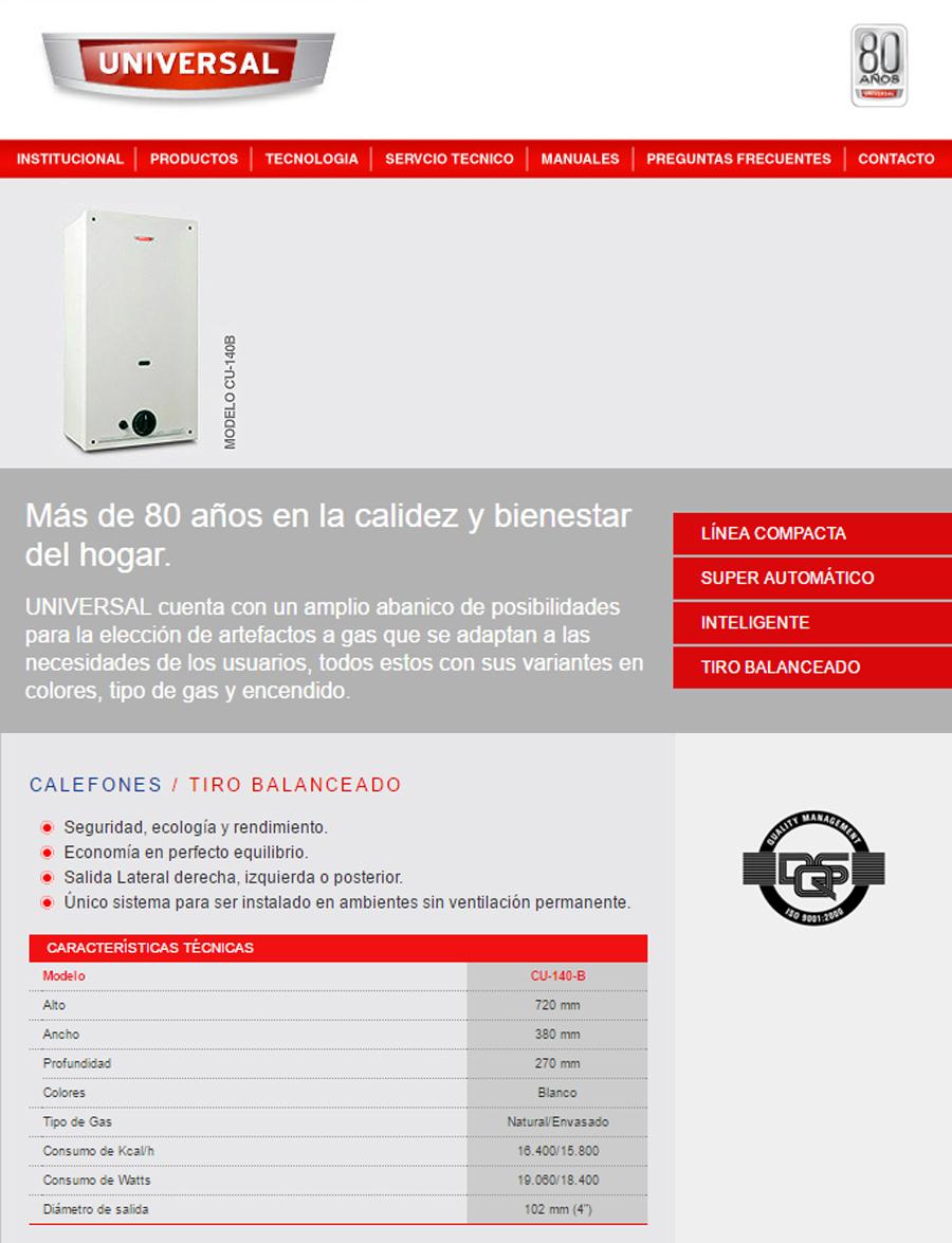 Calefon Universal