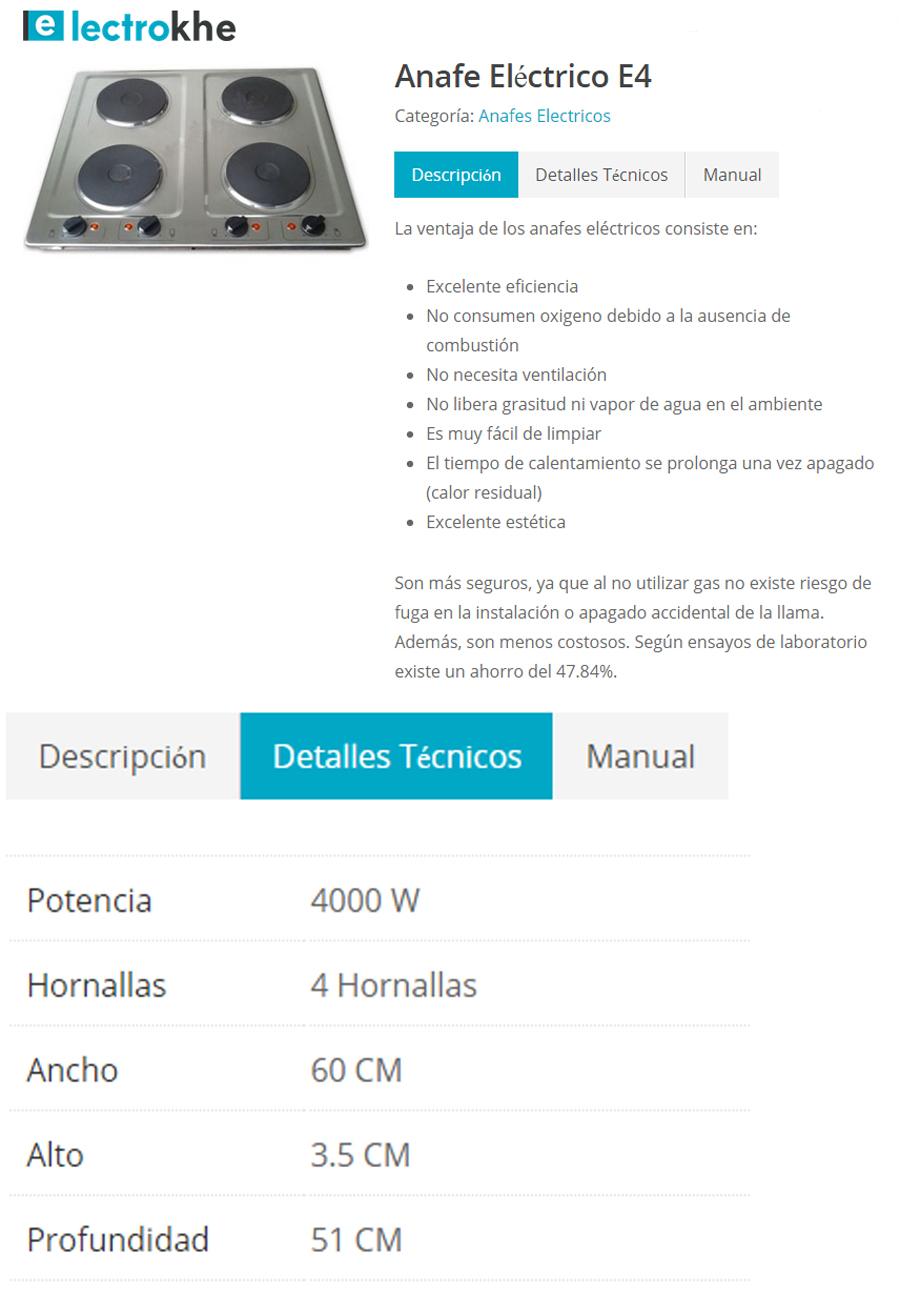 Anafe ElectroKHE 4