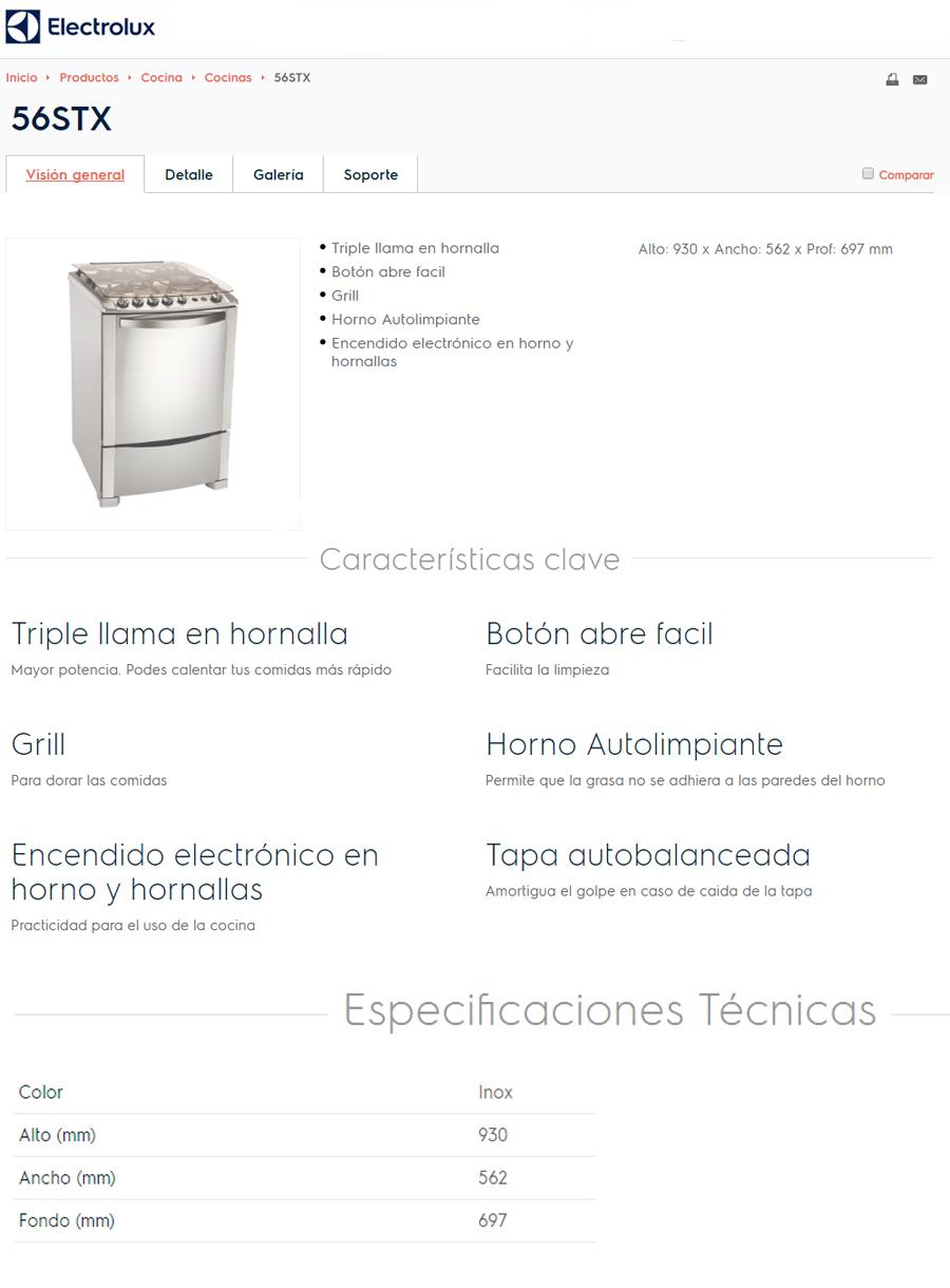 Cocina Electrolux