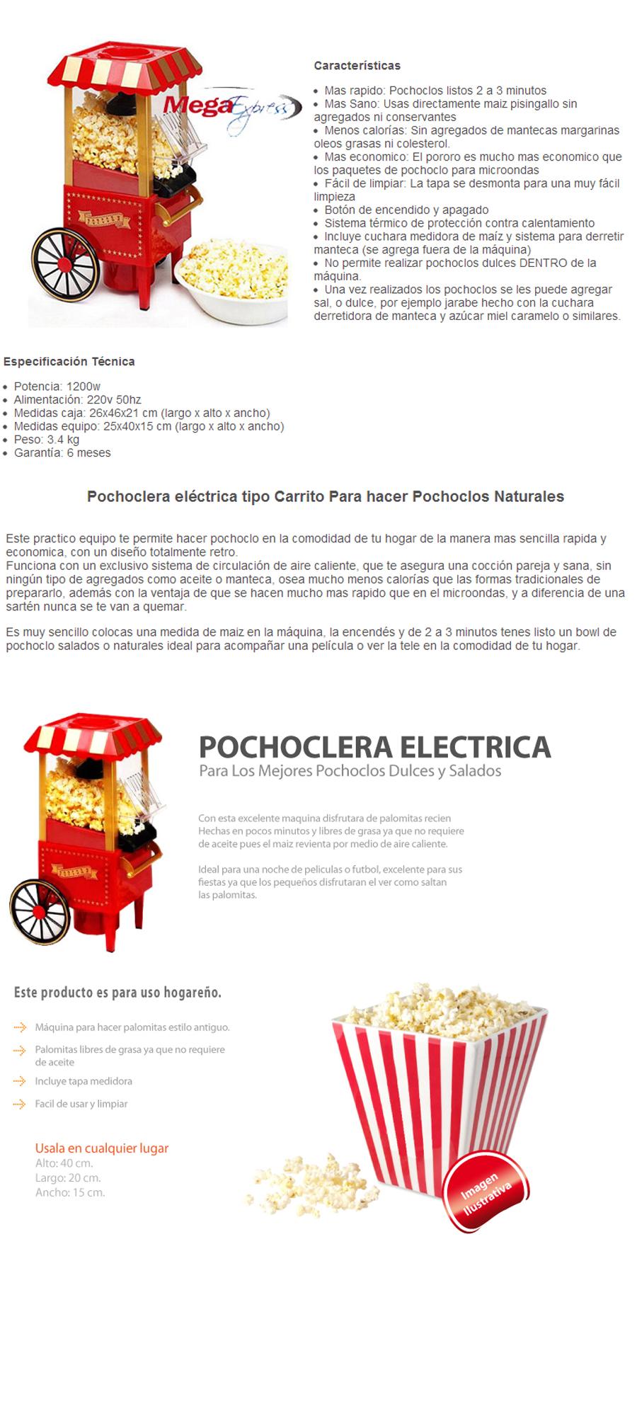 Pochoclera Mega express