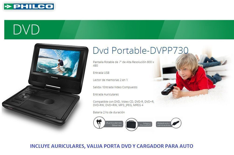Dvd portatil Philco
