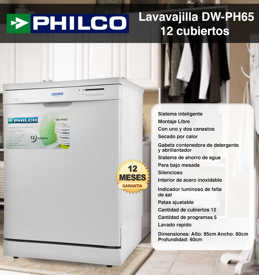 Lavavajillas Philco