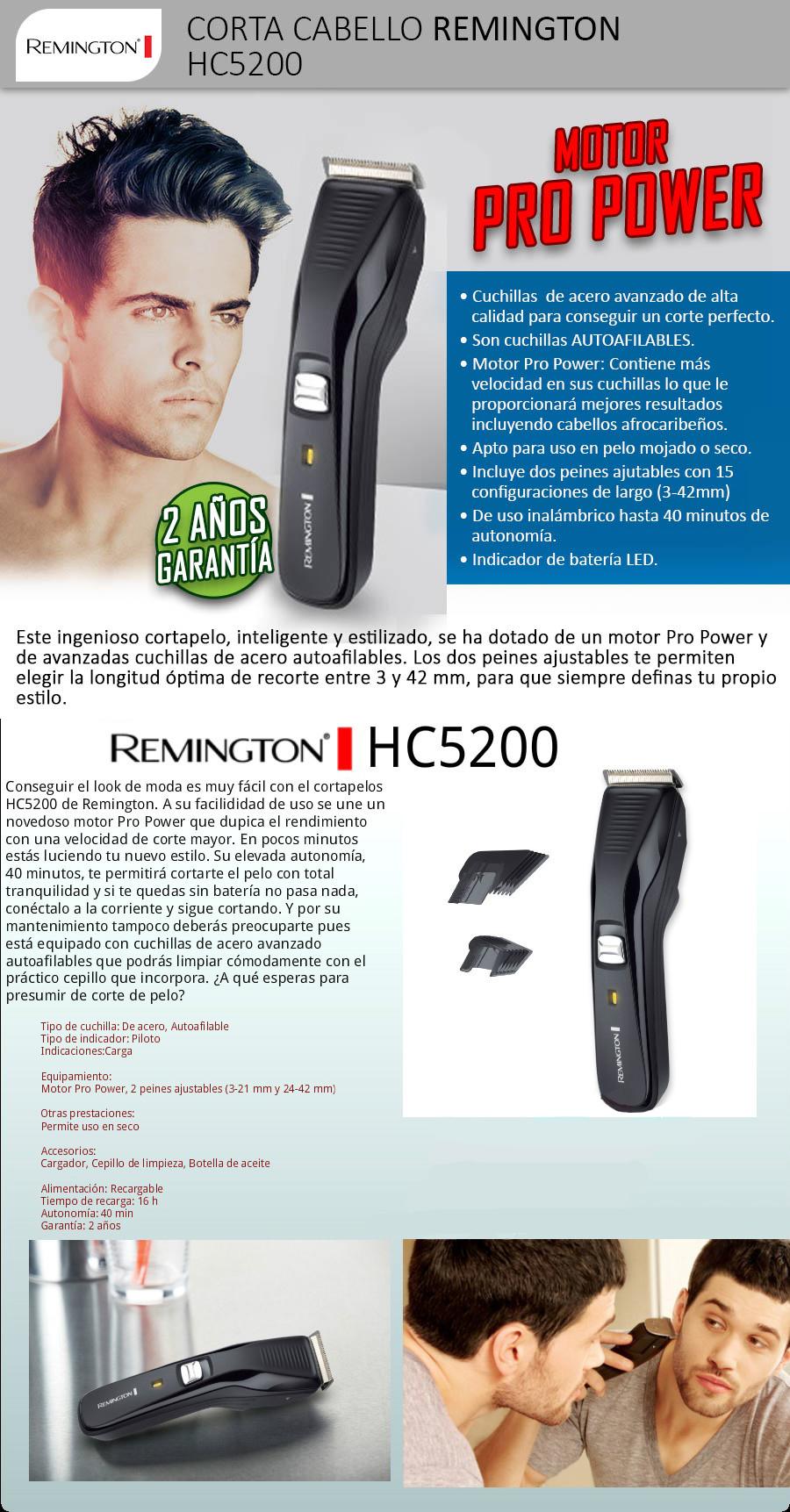 Cortadora de cabello hc5200 – Hermosos peinados 0dde09cb67f5